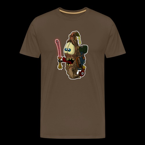 Kot mit Schwert - Männer Premium T-Shirt