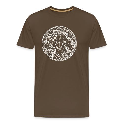 CeazyOwlOnYouWhite - Männer Premium T-Shirt