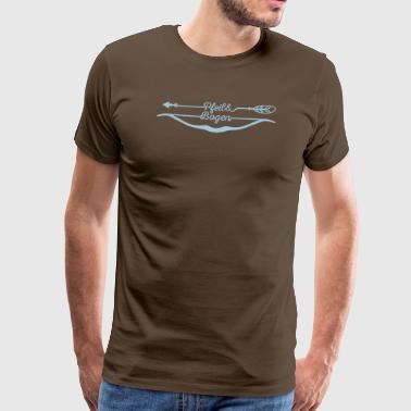 Pfeil und Bogen – Bow and arrow - Männer Premium T-Shirt