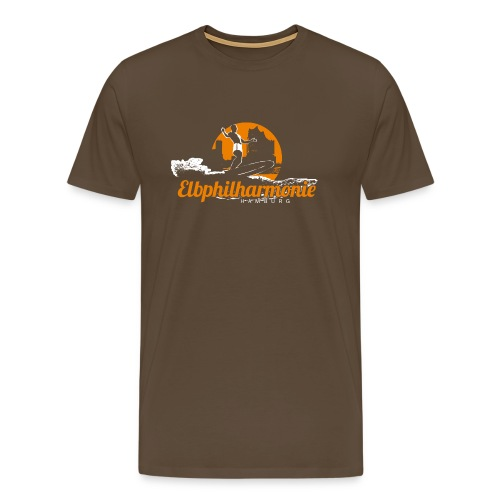 diggaladen motiv surfer elbphilharmonie 01 - Männer Premium T-Shirt