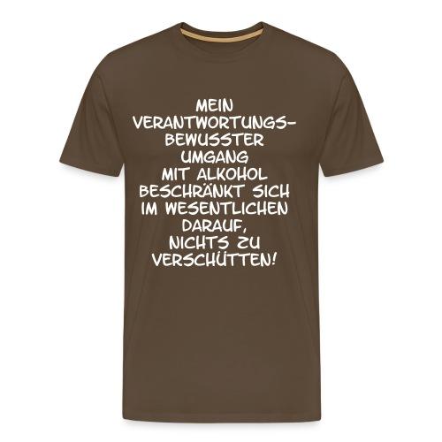 Mein Umgang mit Alkohol - Männer Premium T-Shirt