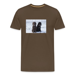Barbets in the snow - Men's Premium T-Shirt