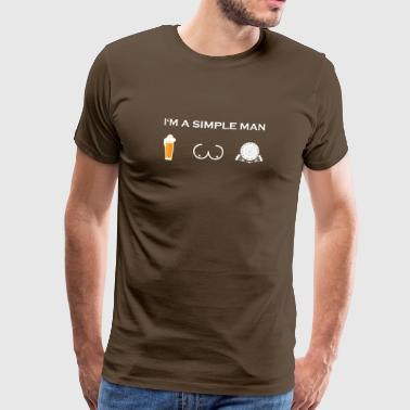 homme simple comme les seins de bière bière seins fléchettes fléchettes - T-shirt Premium Homme