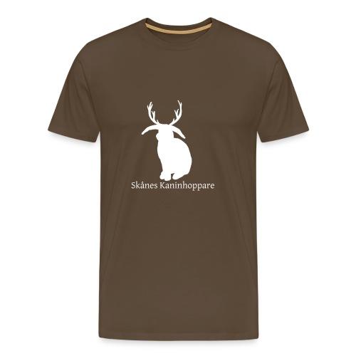 Herr t-shirt - Vit logga - Premium-T-shirt herr