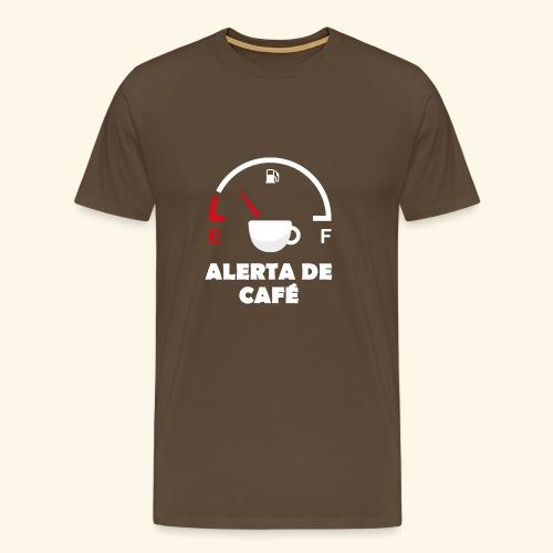 alerta de cafe - Camiseta premium hombre