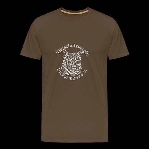 Logo DieFarm269 weiss - Männer Premium T-Shirt