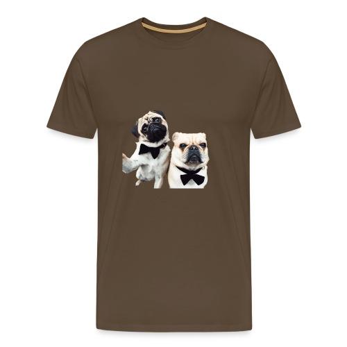 Mopsselfie - Männer Premium T-Shirt