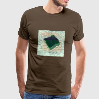 bröd glitch - Premium-T-shirt herr