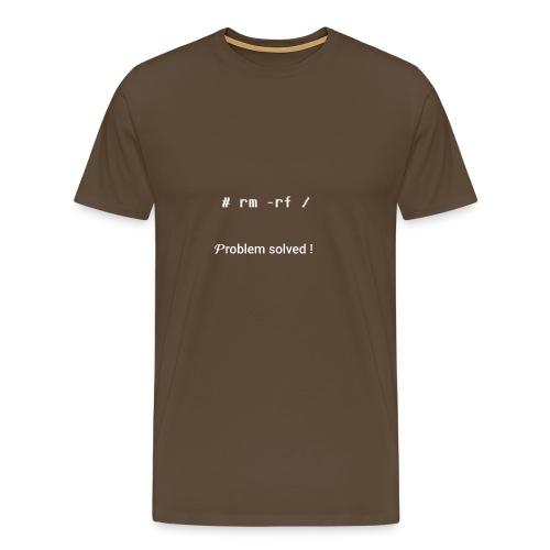 rm -rf Problem Solved - blanc - T-shirt Premium Homme