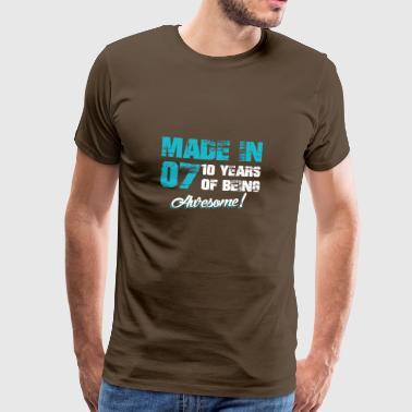 10 años de ser impresionante - Camiseta premium hombre