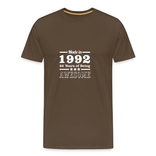 25 Jahre alt geboren in 1992 - Männer Premium T-Shirt