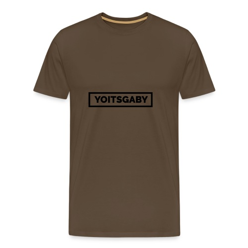 YoItsGaby T-shirt Zwart // Man - Mannen Premium T-shirt