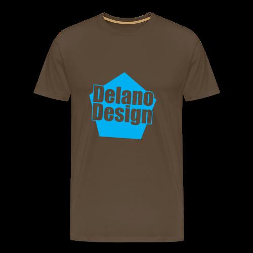 DelanoDesign - Logo Blauw - Mannen Premium T-shirt