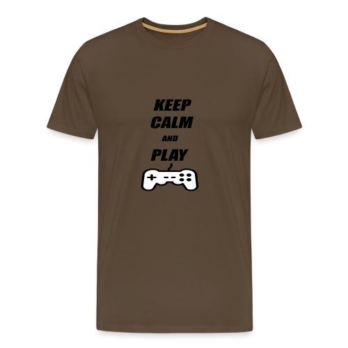 Maglietta Keep Calm And Play bianca. - Maglietta Premium da uomo