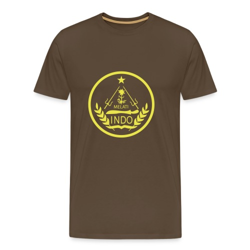 Indo_Melati_GEEL - Mannen Premium T-shirt