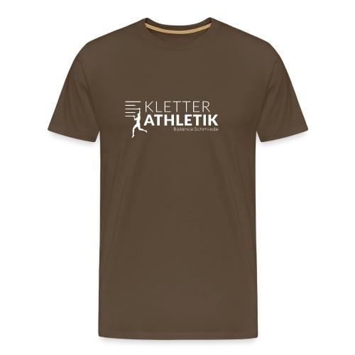 Kletterathletik by BalanceSchmiede weiß - Männer Premium T-Shirt