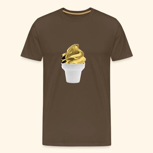 Diseño dorado oro - Camiseta premium hombre