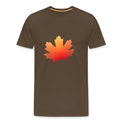 Herbst Blatt Polygon - Männer Premium T-Shirt