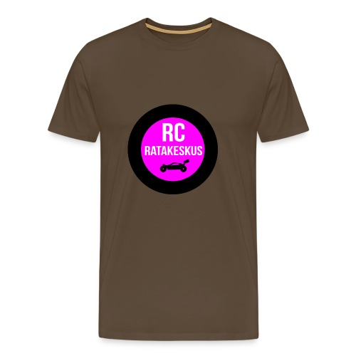 rc-ratakeskus kahvimuki - Miesten premium t-paita