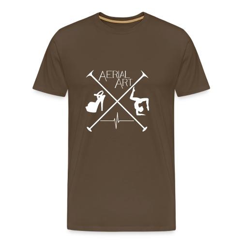 Aerial Art Passion Heel weiß - Männer Premium T-Shirt