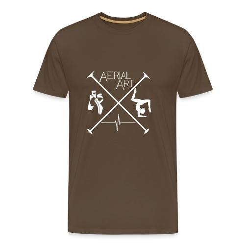 Aerial Art Passion Ballett weiß - Männer Premium T-Shirt