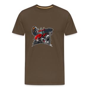 TRACTOR white border - Mannen Premium T-shirt