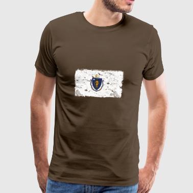 Massachusetts Vintage Flagge - Männer Premium T-Shirt