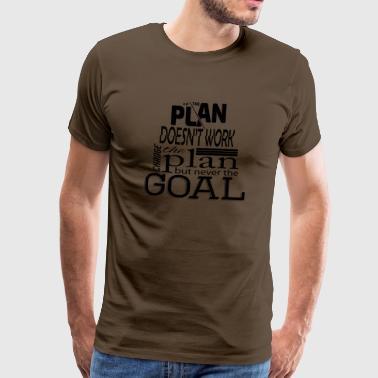mitt mål - Premium T-skjorte for menn