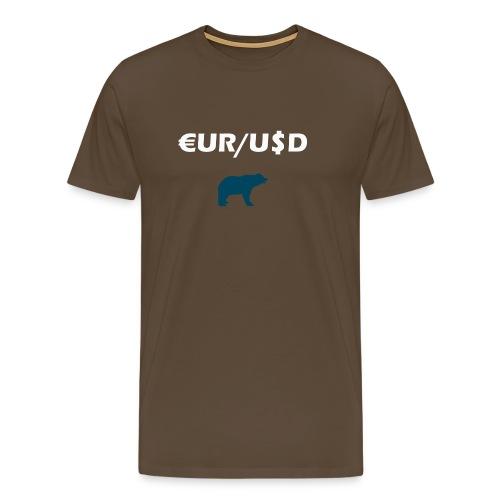 Forex Bear - Männer Premium T-Shirt
