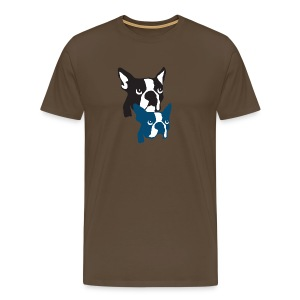 Boston Terrier Knochentiger - Männer Premium T-Shirt