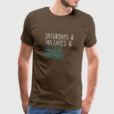 Lauantaisin takaluukku College Football - Miesten premium t-paita