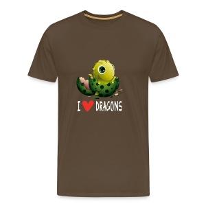 Ich liebe Drachen Tshirt - Herre premium T-shirt