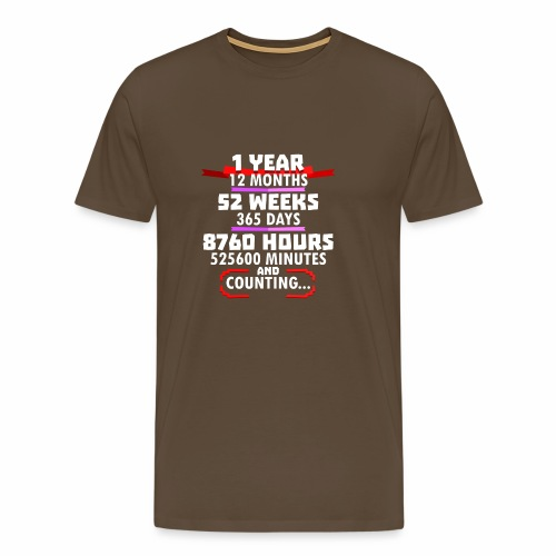 1st Wedding Anniversary a Year Vintage G Design - Men's Premium T-Shirt