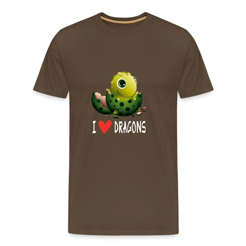 Sjov Dragon Dragon Dragon House Dragon Gift - Herre premium T-shirt