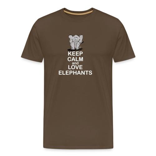 Keep Calm and Love Elephants - Männer Premium T-Shirt
