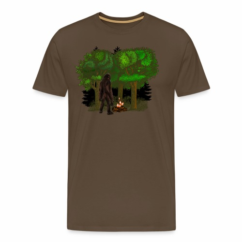 Bigfoot Campfire Forest - Men's Premium T-Shirt