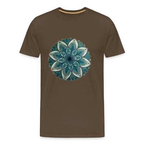 4908F6BC D05C 490F B156 E336E2874217 Mandala Green - Premium T-skjorte for menn