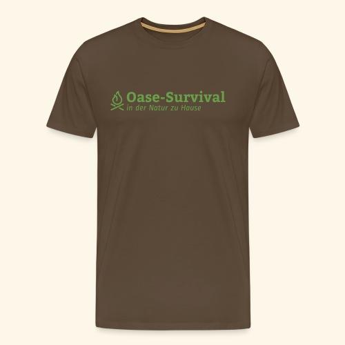 Oase-Survival Logo grün - Männer Premium T-Shirt