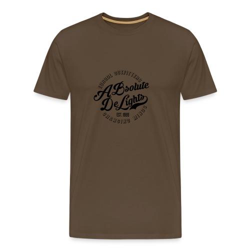 euroDL Retro T-shirt - Black - Mannen Premium T-shirt