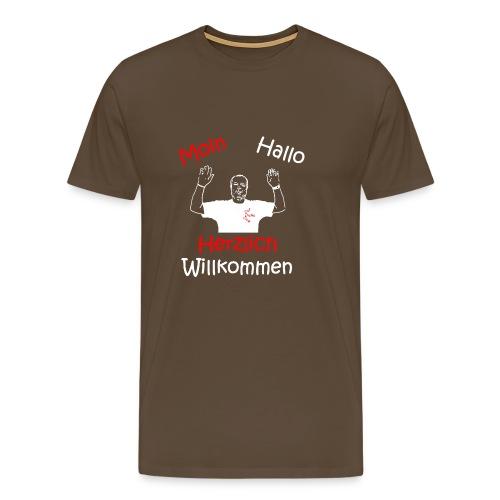 Moin Hallo Herzlich Willkommen - DerDickeDirk - Männer Premium T-Shirt