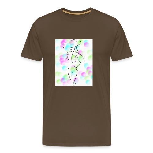 Frau substituiert - Männer Premium T-Shirt