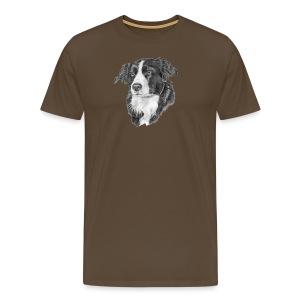 border collie S - Herre premium T-shirt
