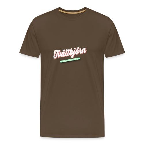 Schriftzug Tvättbjörn präsentiert... - Männer Premium T-Shirt