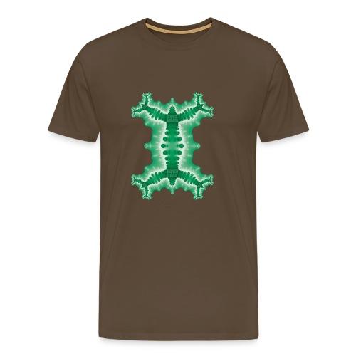 Fraktal - Green Chameleon - Männer Premium T-Shirt