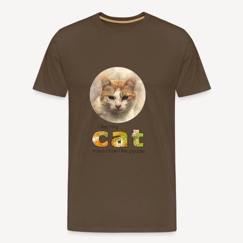 cat - Maglietta Premium da uomo