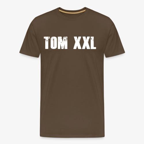 Logo Tom XXL Shirt Weiß - Männer Premium T-Shirt