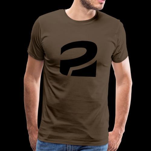 PLATTFORM Logo Invertiert - Männer Premium T-Shirt