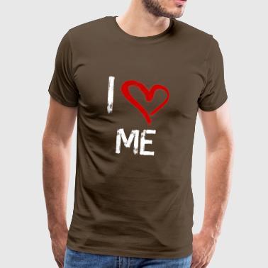 I love me - Miesten premium t-paita