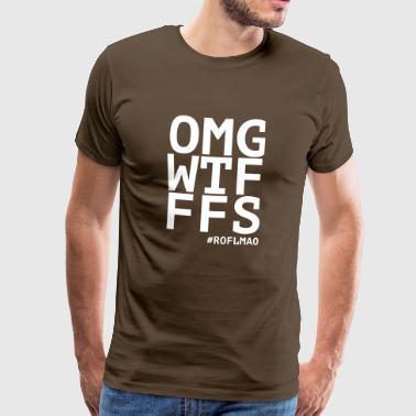 OMG WTF FFS roflmao - Chat Skróty - Koszulka męska Premium