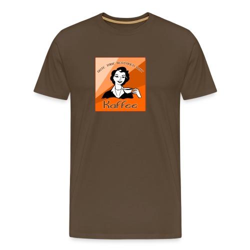 Gute Tage beginnen mit Kaffee - Männer Premium T-Shirt